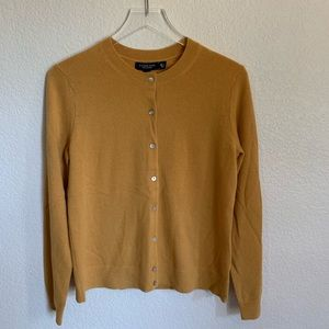 NWT Land's End 100% Cashmere Button Cardi, Small